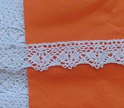 Galantéria - Čipka(A) zo 100% bavlny, 2cm x 18,3 m-biela - 5765483_