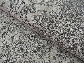 Textil - bavlnené látky -NOVINKA-TALIANSKO-režná - 5766894_