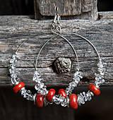 - Krištáľové kruhy s koralom - 5766367_