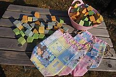 Úžitkový textil - ZĽAVA ! vrecúško pestrofarebné.. - 5764167_
