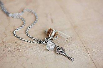 Náhrdelníky - náhrdelník - lahvička na uložení vzpomínek - 5764166_