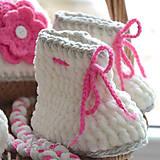 Topánočky - Háčkované čižmičky - 5769207_