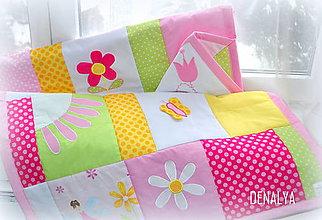 Úžitkový textil - Prehoz 180x110 Kvetinková Víla - 5769063_