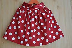 - Detská suknička-veľká bodka - 5767564_