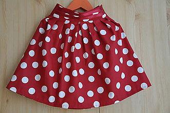 Detské oblečenie - Detská suknička-veľká bodka - 5767564_