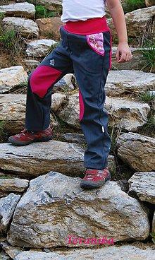 Detské oblečenie - Softshellové kalhoty vel.92,98 - 5769914_