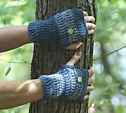 Rukavice - Najvyrukavičkovanejšie denimové rukavice - 5771268_