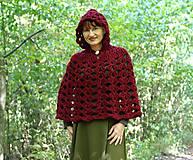 Iné oblečenie - Vlnené pončo, alebo ako Karkulka vo vlniaku vlka stretla - 5771460_