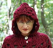 Iné oblečenie - Vlnené pončo, alebo ako Karkulka vo vlniaku vlka stretla - 5771461_