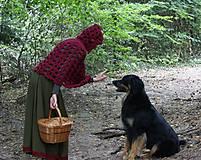 Iné oblečenie - Vlnené pončo, alebo ako Karkulka vo vlniaku vlka stretla - 5771473_