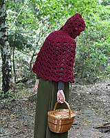 Iné oblečenie - Vlnené pončo, alebo ako Karkulka vo vlniaku vlka stretla - 5771490_