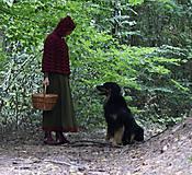 Iné oblečenie - Vlnené pončo, alebo ako Karkulka vo vlniaku vlka stretla - 5771492_