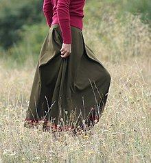 Sukne - Army sukňa - 5771599_