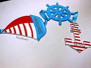 Tabuľky - námornícka girlanda - 5770249_