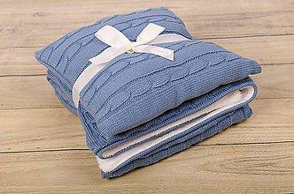 Textil - Zimná Deka pre Chlapčeka, OEKO-TEX® - VintageModrá - 5770735_