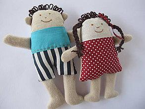 Hračky - Textilná hračka- Janíčko a Marienka - 5769776_