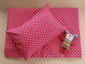 Textil - 2-dielny set obliečky do postieľky De LUXE hviezda ružová - 5772910_