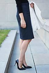 Sukne - Denimová sukňa - 5772981_