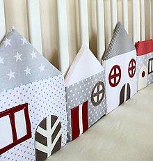 Textil - Domy zo Sivo-červenej ulice - 5770567_