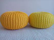 Úžitkový textil - Žltý puf - 5772740_