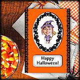 Papiernictvo - Halloweenska pohľadnica s fotkou - 5771666_