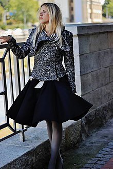Kabáty - Černobílý křivák - 5773958_