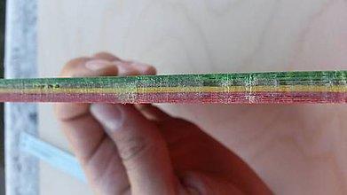 Nezaradené - Micarta z 80g papiera, 0,6x17x10cm, Rasta - 5775165_