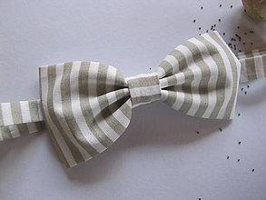 Doplnky - Motýlik dvojlistový-sivý prúžok - 5775540_