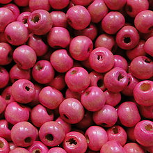 Korálky - Drevené korálky 7x8mm-50ks (ružová) - 5773050_