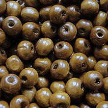 Korálky - Drevené korálky 7x8mm-50ks (sv.hnedá) - 5773051_