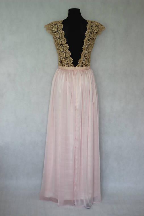 Spoločenské šaty v zlato-púdrovo ružovej kombinácii pre Luciak26 ... 9c0ff89a97c