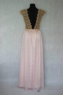 Šaty - Spoločenské šaty v zlato-púdrovo ružovej kombinácii pre Luciak26 -  5773758  6ad78c8ad07