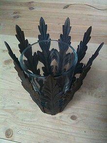 Svietidlá a sviečky - stolový svietnik či váza - 5773056_