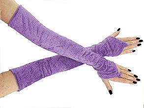 Iné oblečenie - Dlhé spoločenské rukavice zamatové fialové opera 0965G - 5779887_