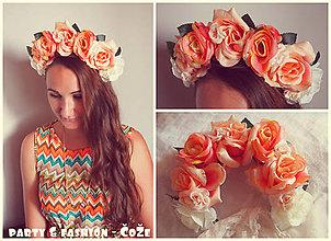 Ozdoby do vlasov - Kvetinová čelenka z ruží :) - 5780730_