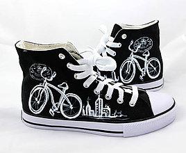 Obuv - čierne s bicyklom - 5777861_