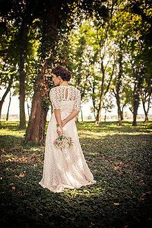 Šaty - wintage svadobné šatky sl.L - 5777036_