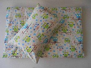 Textil - Detské obliečky bavlnené 100 x 140 / 40 x 60 cm Sovičky - 5777449_