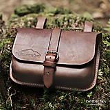 Iné tašky - Kožená opasková mošna / Leather Belt Pouch - 5780292_