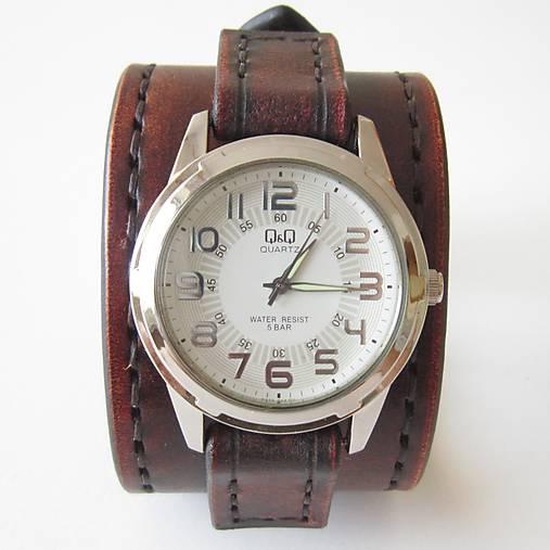 fcc6022c2 Retro hodinky kožené hnedé / leon - SAShE.sk - Handmade Náramky
