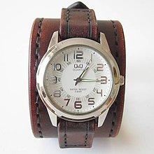 Náramky - Retro hodinky kožené hnedé - 5779818_