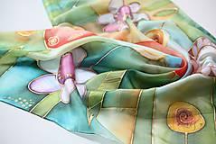 Šatky - hodvábna šatka FLOWERS - 5779641_