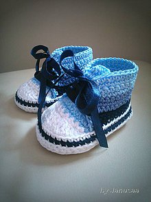 Topánočky - Háčkované tenisky 3farby - 5779331_