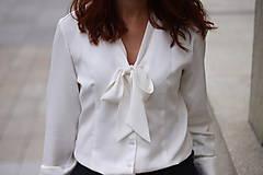 - Biela košeľa s viazačkou - 5778554_