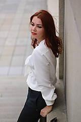 Košele - Biela košeľa s viazačkou - 5778556_