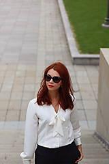Košele - Biela košeľa s viazačkou - 5778560_