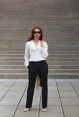 Košele - Biela košeľa s viazačkou - 5778561_