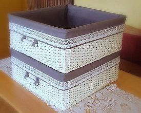 Košíky - bielo-šedý šatníkový - 5778107_