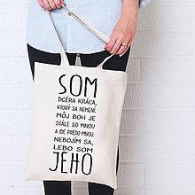 Nákupné tašky - Taška plátená hrubá 38x42cm SOM JEHO - 5779691_
