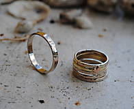 Prstene - 5 krát a vždy inak obrúčka zlatá - 5782758_